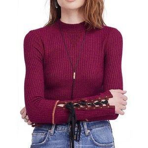 Free People Mountaineer Cuff Mock Neck Top
